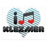 I Love Klezmer Postcard