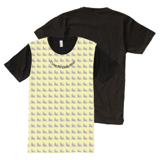 I Love KLhasa Apso's on Yellow All-Over Print T-Shirt