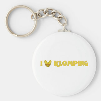 I Love Klomping Basic Round Button Key Ring