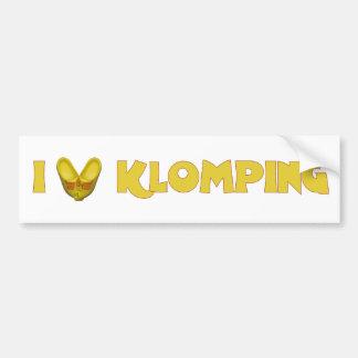 I Love Klomping Bumper Sticker