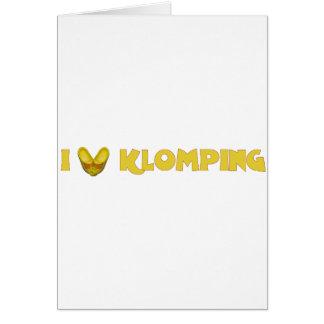 I Love Klomping Kaarten