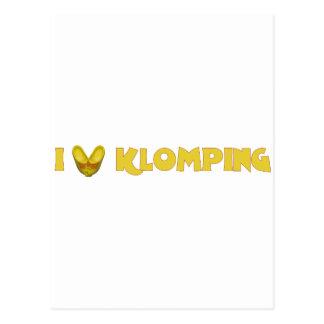 I Love Klomping Postcard