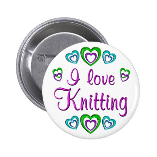 I Love Knitting 6 Cm Round Badge
