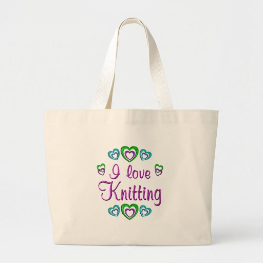 I Love Knitting Canvas Bags