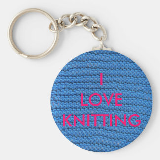I LOVE KNITTING KEY RING