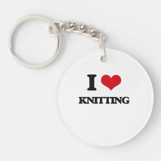 I Love Knitting Acrylic Key Chain
