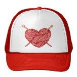 I Love Knitting Mesh Hat