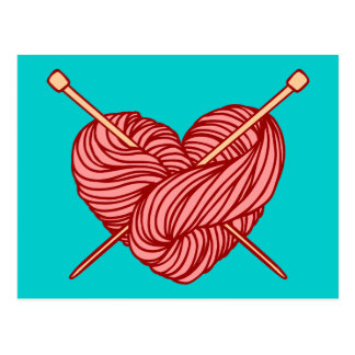 I Love Knitting Post Cards