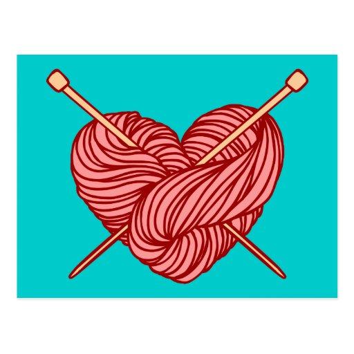 I Love Knitting Post Cards