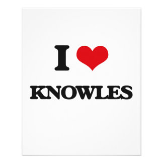 I Love Knowles 11.5 Cm X 14 Cm Flyer