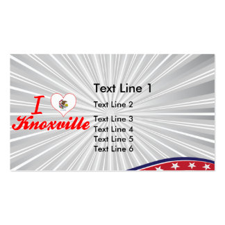 I Love Knoxville, Illinois Business Card Template