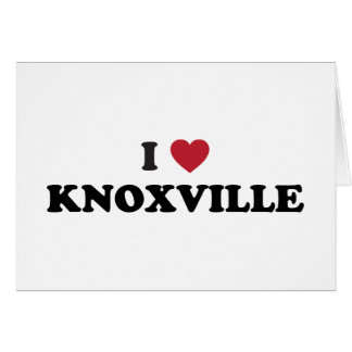 I Love Knoxville Tennessee Greeting Card