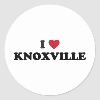 I Love Knoxville Tennessee Round Sticker