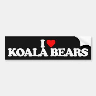 I LOVE KOALA BEARS BUMPER STICKER
