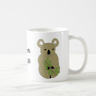 I Love Koala Bears Coffee Mug