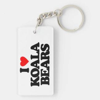 I LOVE KOALA BEARS KEY RING