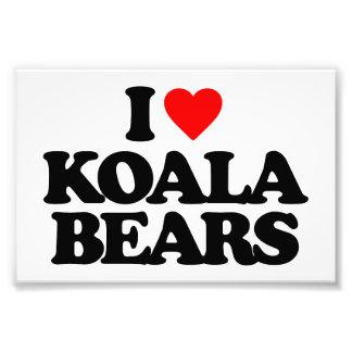 I LOVE KOALA BEARS PHOTO PRINT