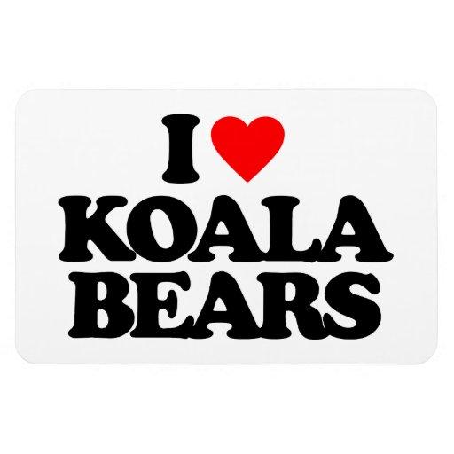 I LOVE KOALA BEARS MAGNET