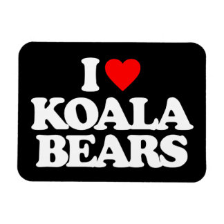I LOVE KOALA BEARS MAGNETS