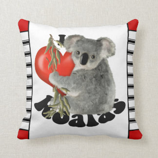 I Love Koalas Cute Cushion