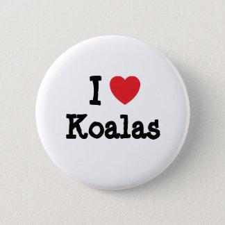 I love Koalas heart custom personalized 6 Cm Round Badge