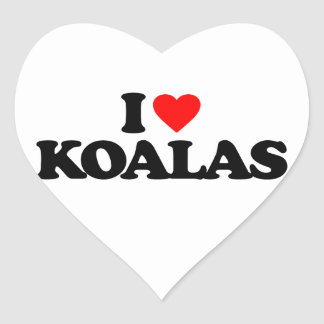 I LOVE KOALAS HEART STICKER