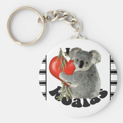 I Love Koalas Keychain