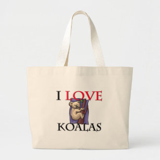 I Love Koalas Large Tote Bag