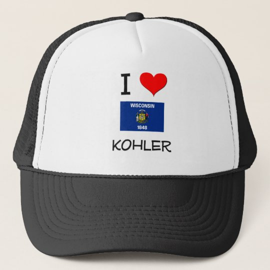 I Love Kohler Wisconsin Trucker Hat