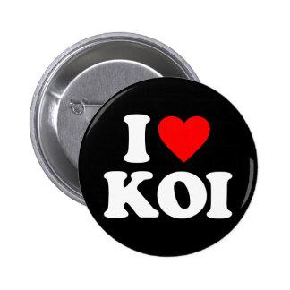 I LOVE KOI 6 CM ROUND BADGE