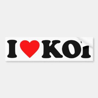 I LOVE KOI CAR BUMPER STICKER