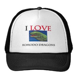 I Love Komodo Dragons Hat