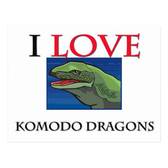 I Love Komodo Dragons Postcard