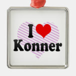 I love Konner Christmas Ornament