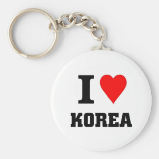 I love Korea Basic Round Button Key Ring