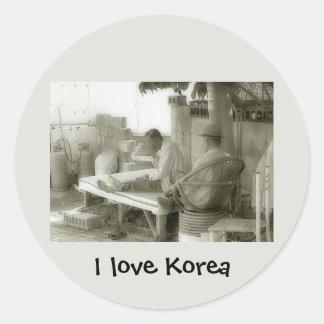 I love Korea products Round Sticker