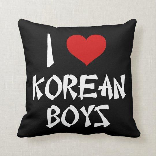 I Love Korean Boys Cushion
