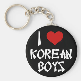I Love Korean Boys Key Ring