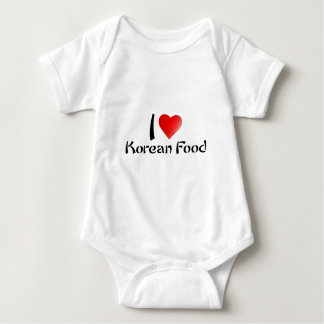 I LOVE KOREAN FOOD BABY BODYSUIT