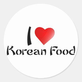 I LOVE KOREAN FOOD CLASSIC ROUND STICKER