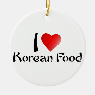 I LOVE KOREAN FOOD ROUND CERAMIC DECORATION