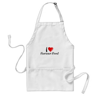 I LOVE KOREAN FOOD STANDARD APRON