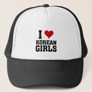 I love Korean Girls Cap