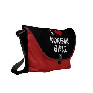 I Love Korean Girls Courier Bag
