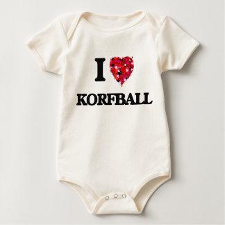 I Love Korfball Baby Bodysuit
