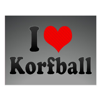 I love Korfball Postcard