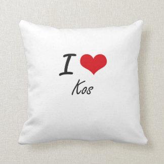 I Love Kos Throw Cushions