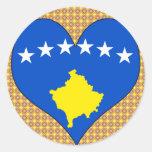 I Love Kosovo Islands Round Stickers