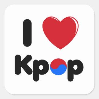 I love kpop square sticker