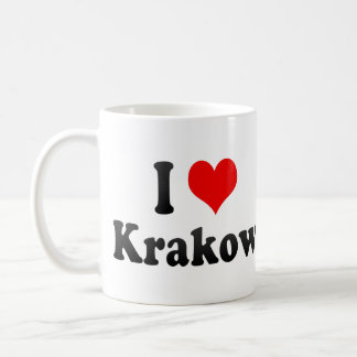 I Love Krakow, Poland Coffee Mug